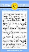 Sunny Studio - Clear Stamp - Angelic Sentiments