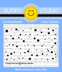 Sunny Studio - Clear Stamp - Frosty Flurries