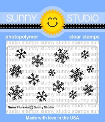 Sunny Studio - Clear Stamp - Snow Flurries