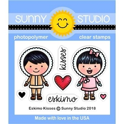 Sunny Studio - Clear Stamp - Eskimo Kisses