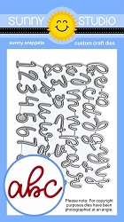 Sunny Studio - Cutting Dies - Loopy Letters