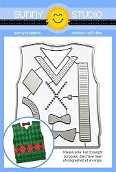 Sunny Studio - Cutting Dies - Sweater Vest