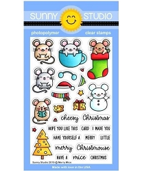 Sunny Studio - Clear Stamp - Merry Mice