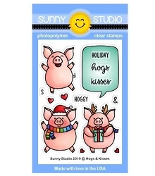 Sunny Studio - Clear Stamp - Hogs & Kisses
