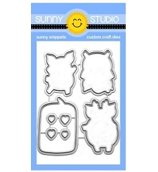 Sunny Studio - Cutting Dies - Hogs & Kisses