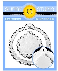 Sunny Studio - Cutting Dies - Scalloped Tag Circle