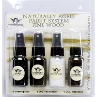 Tattered Angels - Naturally Aged Fine Wood Paint System Kit - White Washed Pine :)