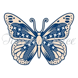 Tattered Lace - Dies - Whitework Twilight Butterfly