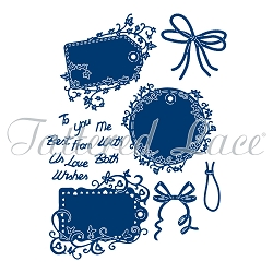 Tattered Lace - Dies - 3 Floral Message Tags