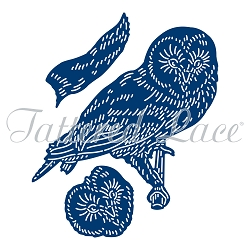 Tattered Lace - Dies - Festive Pines Resting Owl