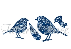 Tattered Lace - Dies - Forest Pines Birds - Robins