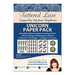Tattered Lace - Paper Pack - Unicorn Paper Pack