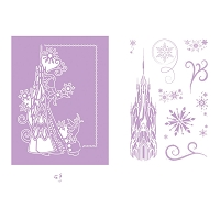 Tattered Lace - Dies - Disney Frozen Melded Elsa Castle Die & Stamp Set