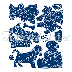Tattered Lace - Dies - Set of Playful Pups