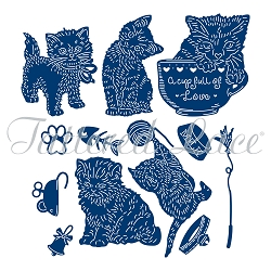 Tattered Lace - Dies - Set of Playful Kittens