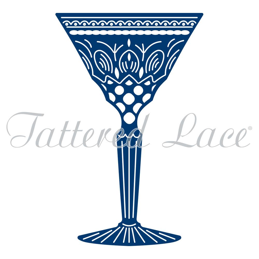 Tattered Lace à regarder le monde aller par Lady cocktails bar table meurt ETL322