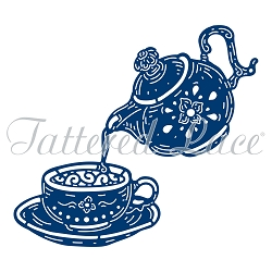 Tattered Lace - Dies - Tea Leaves and Teacup