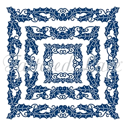 Tattered Lace - Dies - Essential Square Holly (requires large format die cut machine)
