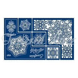 Tattered Lace - Dies - Snowflake Shaped Card (requires large format die cut machine)