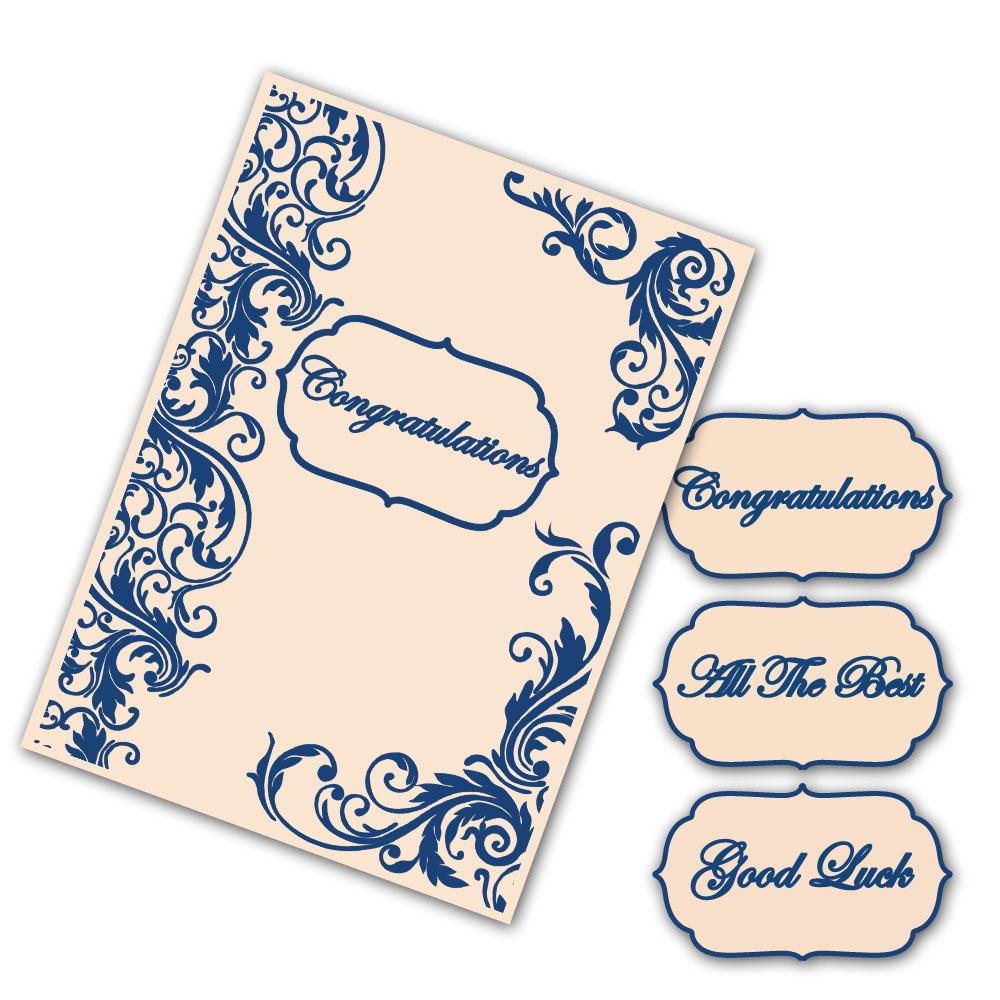 Tattered Lace - Interchangeable Embossing Folder Set - Flourish Border  (5 5