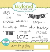 Taylored Expressions - Cling Stamp Set - Little Bits of Baby