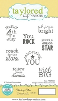 Taylored Expressions - Cling Stamp Set - Shining Star Sentiments