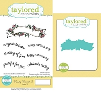 Taylored Expressions - Rubber Cling Stamps & Die Set - Fancy Banner 2