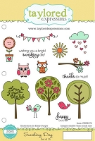 Taylored Expressions - Cling Mounted Rubber Stamp - Sunshiny Day