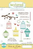 Taylored Expressions - Cling Mounted Rubber Stamp - Birds of a Feather