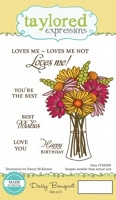 Taylored Expressions - Cling Mounted Rubber Stamp - Daisy Bouquet
