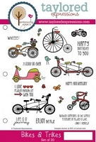 Taylored Expressions - Cling Mounted Rubber Stamp - Bikes & Trikes