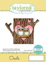 Taylored Expressions - Cling Mounted Rubber Stamp - Animals In Love - Owls