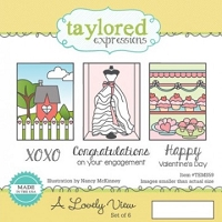 Taylored Expressions - Cling Mounted Rubber Stamp - A Lovely View