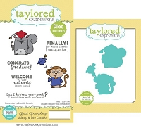 Taylored Expressions - Rubber Cling Stamps and Die Set - Grad Grumplings