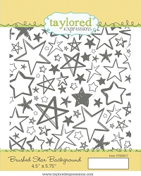 Taylored Expressions - Cling Mounted Rubber Stamp - Brushed Star Background