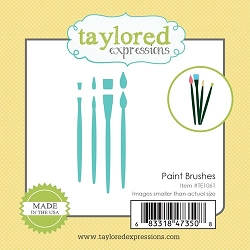 Taylored Expressions - Cutting Die - Little Bits Paint Brushes