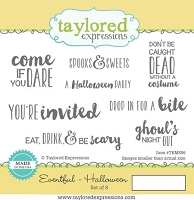 Taylored Expressions - Cling Mounted Rubber Stamp - Eventful Halloween