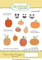 Taylored Expressions - Cling Mounted Rubber Stamp - Peek-a-Boo Pumpkins