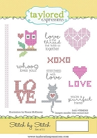 Taylored Expressions - Cling Mounted Rubber Stamp - Stitch by Stitch