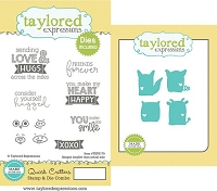 Taylored Expressions - Rubber Cling Stamps & Die Set - Quick Critters