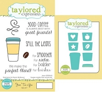 Taylored Expressions - Rubber Cling Stamps and Die Set - Joe to-go