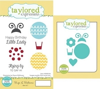 Taylored Expressions - Rubber Cling Stamps and Die Set - Bugs & Balloons