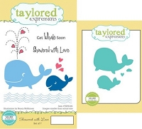 Taylored Expressions - Rubber Cling Stamps and Die Set - Showered With Love