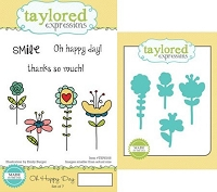 Taylored Expressions - Rubber Cling Stamps and Die Set - Oh Happy Day