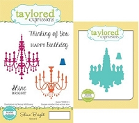 Taylored Expressions - Rubber Cling Stamps and Die Set - Shine Bright