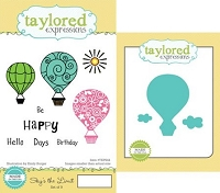Taylored Expressions - Rubber Cling Stamps and Die Set - Sky's The Limit