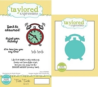 Taylored Expressions - Rubber Cling Stamps and Die Set - Tick Tock
