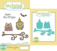 Taylored Expressions - Rubber Cling Stamps and Die Set - Owl-O-Ween