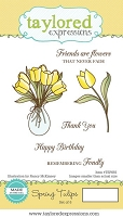 Taylored Expressions - Cling Mounted Rubber Stamp - Spring Tulips