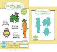 Taylored Expressions - Rubber Cling Stamps & Die Set - Lucky Charms